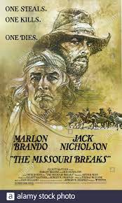 MARLON BRANDO, Jack Nicholson Film Poster, die Missouri Breaks, 1976  Stockfotografie - Alamy