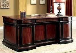 office world desks. Strandburg Cherry \u0026 Black Office Desk,Furniture Of America World Desks 4
