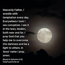 Prayers About Light And Darkness A Prayer To Overcome Rulers Of Darkness Ephesians 6 12