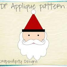 Santa Applique Pattern - Christmas Applique Template PDF / Kids ... & Santa Applique Pattern - Christmas Applique Template PDF / Kids Christmas  Quilt Pattern / Santa Applique Adamdwight.com