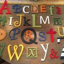 wooden letters for nursery abc sign