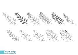 葉っぱの手書き素材商用可能フリー素材線画手書きリーフ Ai Eps