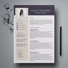 Creative Resume Template Cv Template For Ms Word And Pages Professional Resume Modern Resume Design Resume Instant Download