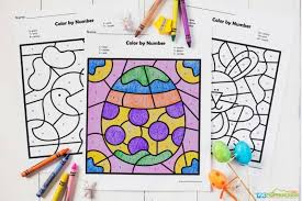 Fun activity for toddlers and preschoolers! Free Easter Color By Number