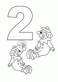 Small Picture Number 2 Coloring Pages For Kids Counting Sheets Printables Free