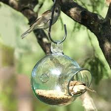 vintage glass bird cage feeders blown birdcage design ideas