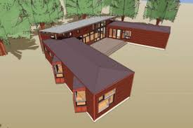 u shaped house plans. Signature Modern Exterior - Front Elevation Plan #431-10 U Shaped House Plans