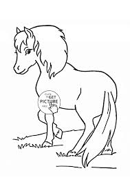 Small Picture Beautiful Pony coloring page for kids for girls coloring pages