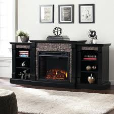 black electric fireplace faux stone electric fireplace w bookcases black black electric fireplace tv stand big