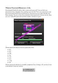 Winrar Password Remover Winrar Password Remover