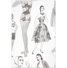 pioneer woman clothing drawing. vintage fashion sketches stationery design pioneer woman clothing drawing