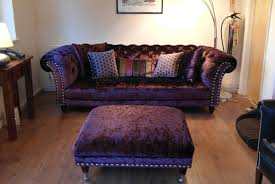 furniture enchanting chesterfield couch for living room purple upholstered tufted with ott wooden floor decoration ideas