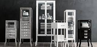 pharmacy bath collection burnished steel rh apothecary furniture collection