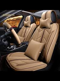 cars 6d stereoscopic leather seat cushions with 2pcs headrests share