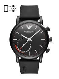 Buy Emporio <b>Armani</b> Connected Men Black Hybrid <b>Smart Watch</b> ...
