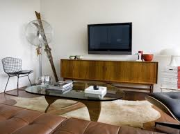 Mid Century Modern Living Room Living Room Mid Century Modern With Fireplace Tv Above Home