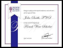 about the fws exam candidates who follow this in depth curriculum on the wines of and pass the exam earn the french wine scholar fws post nominal