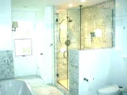 half wall shower glass bathroom design in no panels ireland gl