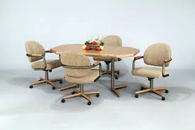 dinette sets with caster chairs dining room dining table with rolling chairs kitchen chairs with casters