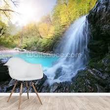 beautiful waterfall wallpaper mural
