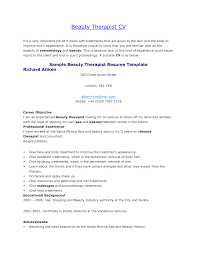 Massage Therapist Resume Sample Cover Letter Therapy Examples