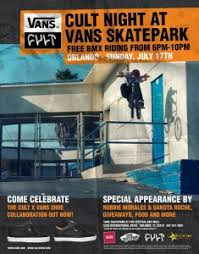 flyers orlando cult night at vans skateparks flyers