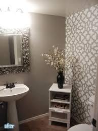 diy bathroom makeover using stencils