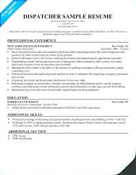 Dispatcher Resume Pelosleclaire Com