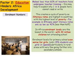 world issues development in africa essay factor x affects  6 enrolment