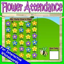 Attendance Chart Spring Attendance For Smartboard Attendance Sheet Editable Attendance Chart