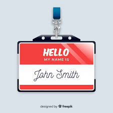 Modern Name Tag Template With Realistic Design Vector Free