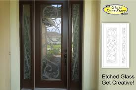 glass front door designs. Etched Glass Front Door With Scroll Design Designs O