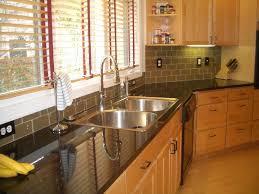 kitchen backsplash mosaic tiles green small tile backsplash for modern kitchen with black countertop and