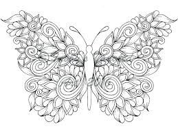 Printable Butterfly Coloring Pages Kindergarten Coloring Source Kids