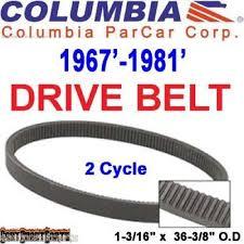 columbia golf cart columbia par car golf cart clutch drive belt 1967 1981 36394 67