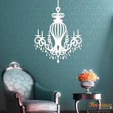 space wall decal with royal chandelier wall decal space wall art decals ndd