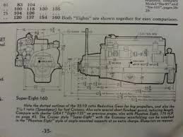 old marine engine 1940 s gray marine 372 straight 8 blueprint