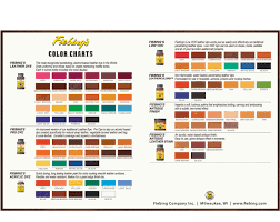 fiebing leather dye color chart