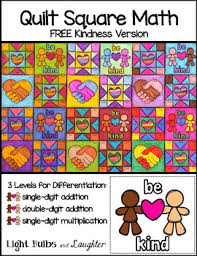 FREE Kindness Math Art - Quilt Square by Light Bulbs and Laughter & FREE Kindness Math Art - Quilt Square Adamdwight.com