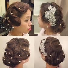 こないだの花嫁さま髪型後輩で再現 和装だったけど洋装イメージで