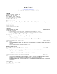 Science Resume Objective Examples Example Of Resume Objective