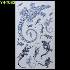 470 руб геккон ящерицы роспись для боди арта стикер татуировка браслета черные