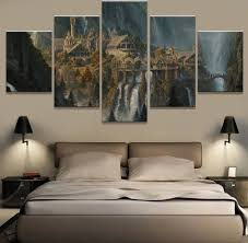 wall art 5 panel painting lord of the rings modern home decor canvas painting pictures wall