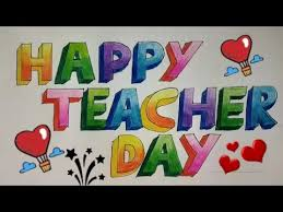 Happy Teachers Day Chart Repeat How To Make Teachers Day Greeting Card Drawing By