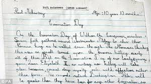 paul mccartney reveals monarchist leanings in schoolboy essay essay written by sir paul mccartney in 1953 to celebrate the queen s coronation which was found