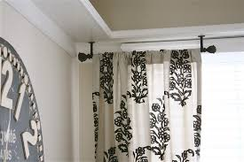 Curtain rods for small windows Curved Corner Window Curtain Rod Small Amberyin Decors Corner Window Curtain Rod Small Amberyin Decors Popular Corner