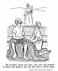Small Picture The Apostles Coloring Pages James and John Bible Printables