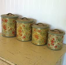 antique canister sets vintage metal kitchen canisters vintage