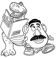 Small Picture Rex and Mr Potato Head in Toy Story Coloring Page Download