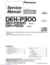 pioneer deh p200 manuals